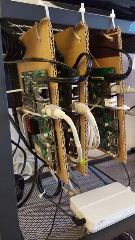finished server rack