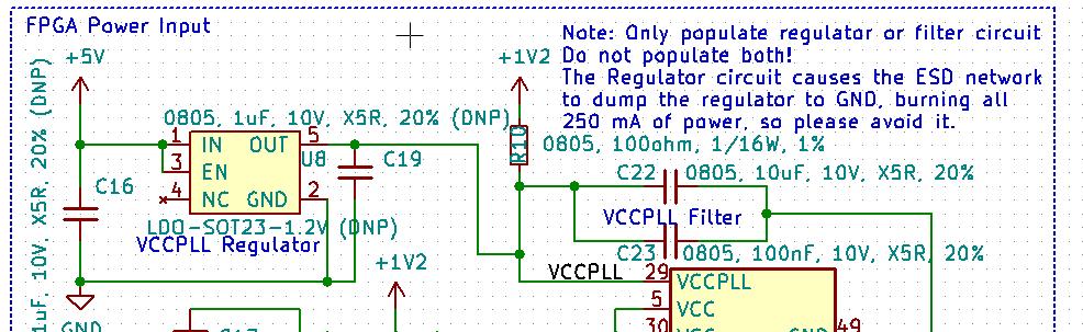 VCCPLL: Regulator or Filter
